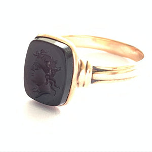 Georgian 15ct Gold Roman Seal Intaglio Ring