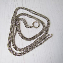 "Load image into Gallery viewer, Victorian Sterling Silver 62"" Guard Chain"