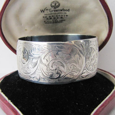 Victorian Sterling Silver Cuff Bracelet, Charles Horner, Chester 1855.