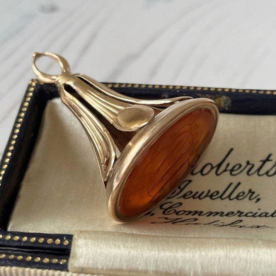 Georgian 18ct Gold & Carnelian Intaglio Fob