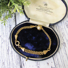 Load image into Gallery viewer, Antique Victorian 18ct Gold Albertina Bracelet. - MercyMadge