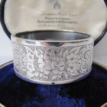 Load image into Gallery viewer, Antique Victorian Sterling Silver Cuff Bracelet, George Loveridge, Birmingham 1881