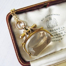 Load image into Gallery viewer, Victorian 9ct Gold Citrine Spinner Fob, Chester 1890 - MercyMadge