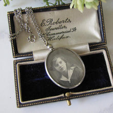 Load image into Gallery viewer, Edwardian Sterling Silver Antique Photo Locket