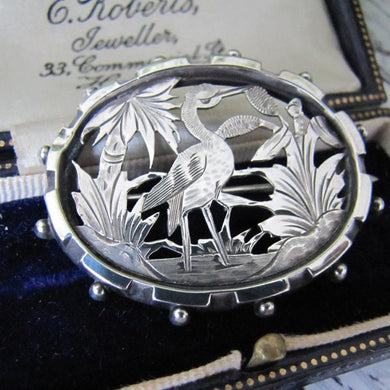 Victorian Aesthetic Sterling Silver Brooch