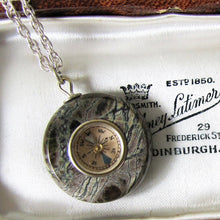 Load image into Gallery viewer, Victorian Scottish Silver & Agate Compass Pendant Fob