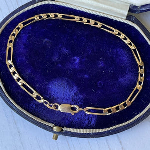 9ct gold Figaro chain bracelet