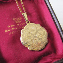Load image into Gallery viewer, Andreas Daub Edwardian Rolled Gold Locket, Germany