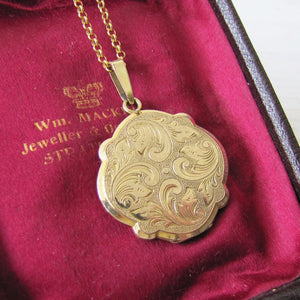 Andreas Daub Edwardian Rolled Gold Locket, Germany