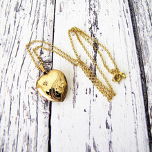 Load image into Gallery viewer, Vintage 9ct Gold & Diamond Heart Locket - MercyMadge