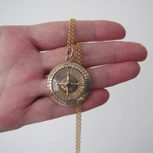 Load image into Gallery viewer, Vintage 1960's 9ct Gold Spinning Roulette Pendant - MercyMadge