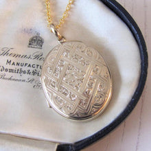 Load image into Gallery viewer, Large Victorian 9ct Gold Engraved Oval Locket