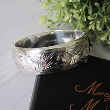 Load image into Gallery viewer, Victorian Style Engraved Silver Vintage Bracelet