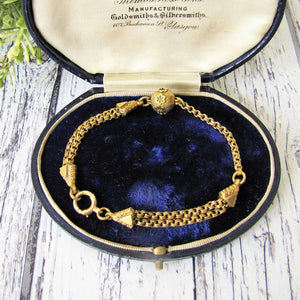 Antique Victorian 18ct Gold Albertina Bracelet. - MercyMadge