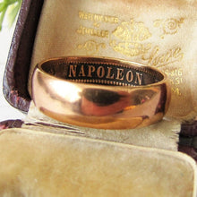 Load image into Gallery viewer, Antique French Napoleon Coin Ring