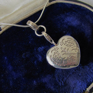 Thomas Sabo Sterling Silver Engraved Puffy Heart Locket