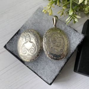 Victorian Aesthetic Engraved Silver Locket