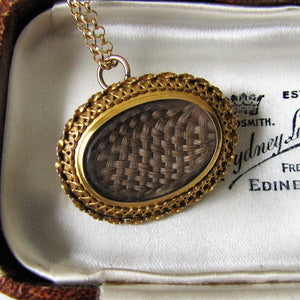 Antique 15ct Gold Locket Pendant, Mourning For Edward Aged 8 - MercyMadge