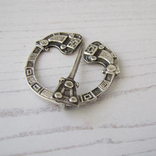 Load image into Gallery viewer, Sterling Silver Celtic Penannular Pin, Henderson & Horner Bros. Glasgow 1941