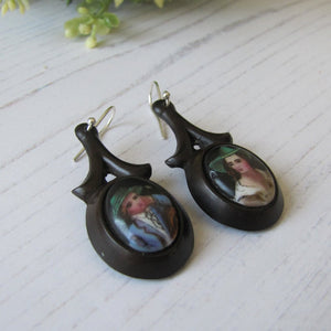 Victorian Vagabond Vulcanite Earrings