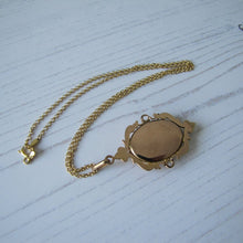Load image into Gallery viewer, Vintage 1930s Rolled Gold & Onyx Hidden Locket Pendant - MercyMadge