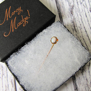 Antique Victorian 15ct Gold & Opal Stick Pin