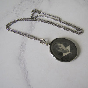 Edwardian Sterling Silver Antique Photo Locket