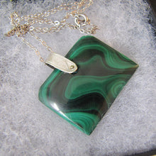 Load image into Gallery viewer, Victorian Carved Malachite & Silver Fob Pendant
