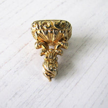Load image into Gallery viewer, Georgian 15ct Gold Memento Mori Moonstone Fob - Mercy Madge