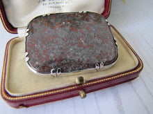 Load image into Gallery viewer, Antique Scottish Silver & Jasper Brooch