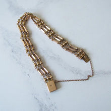 Load image into Gallery viewer, Antique 15ct Rose Gold Gate Bracelet