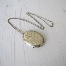 Load image into Gallery viewer, Vintage English Silver Photo Locket & Chain - MercyMadge
