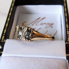 Load image into Gallery viewer, Vintage 9ct Gold Alexandrite & Diamond Edwardian Revival Ring