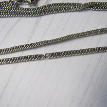 "Load image into Gallery viewer, Victorian Sterling Silver 62"" Guard Chain."