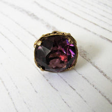 Load image into Gallery viewer, 9ct Gold & Amethyst Fob Pendant