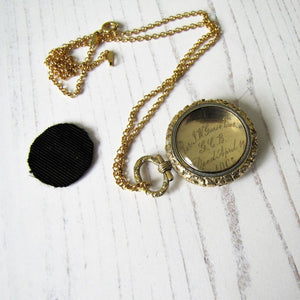 15ct Carved Gold Memorial Locket For Sir John Guise, English Baronet 1865 - MercyMadge