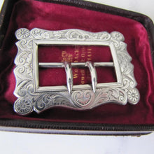 Load image into Gallery viewer, Art Nouveau Engraved Silver Lady's Belt Buckle