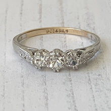 Load image into Gallery viewer, Edwardian 3 Stone Paste Diamond Engagement Ring