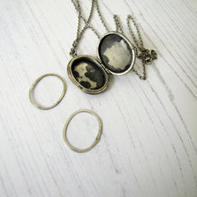 Load image into Gallery viewer, Victorian Sterling Silver Mizpah Locket On Chain - MercyMadge