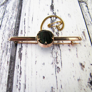Victorian 9ct Rose Gold Scarab Beetle Brooch/Cravat Pin - MercyMadge