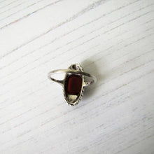 Load image into Gallery viewer, Art Deco Carnelian Silver & Marcasite Ring - MercyMadge