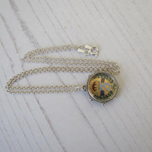 Load image into Gallery viewer, Silver Queen Victoria Enamel Coin Pendant Fob