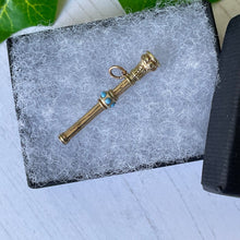 Load image into Gallery viewer, Victorian 15ct Gold & Turquoise Pencil Pendant