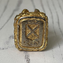 Load image into Gallery viewer, Georgian Gold Cased Steel Intaglio Fob Seal : Corona Fides