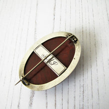 "Load image into Gallery viewer, Victorian Scottish Silver Agate Brooch With Engraved Initials ""JMP"". - MercyMadge"
