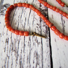 Load image into Gallery viewer, Antique Georgian Red Coral Necklace - Child's Miniature Necklace. - MercyMadge