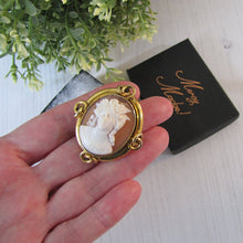 Load image into Gallery viewer, Antique Georgian Gold Cameo Brooch