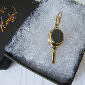 Antique 15ct Gold Watch Key Fob, Victorian/Georgian - MercyMadge