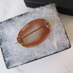 Georgian/Victorian 9ct Rose Gold Carnelian Brooch