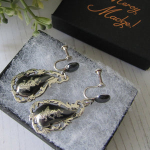 Vintage Siam Silver Neilloware Drop Earrings